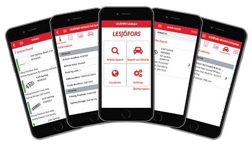 Lesjöfors Automotive - Mobile Catalogue App